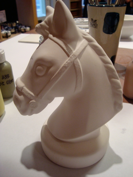 Pre-painted horse bank