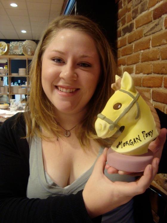 Me and my 70's Morgan Pony piggy bank!
