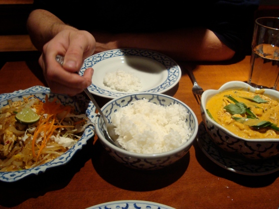 Thai food with Mr. Gaunt