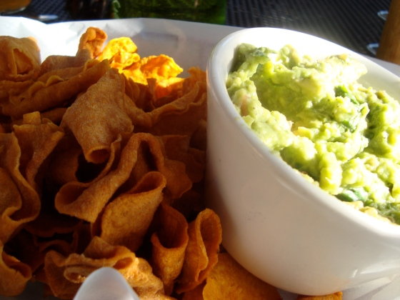 Yam Chips and Guac