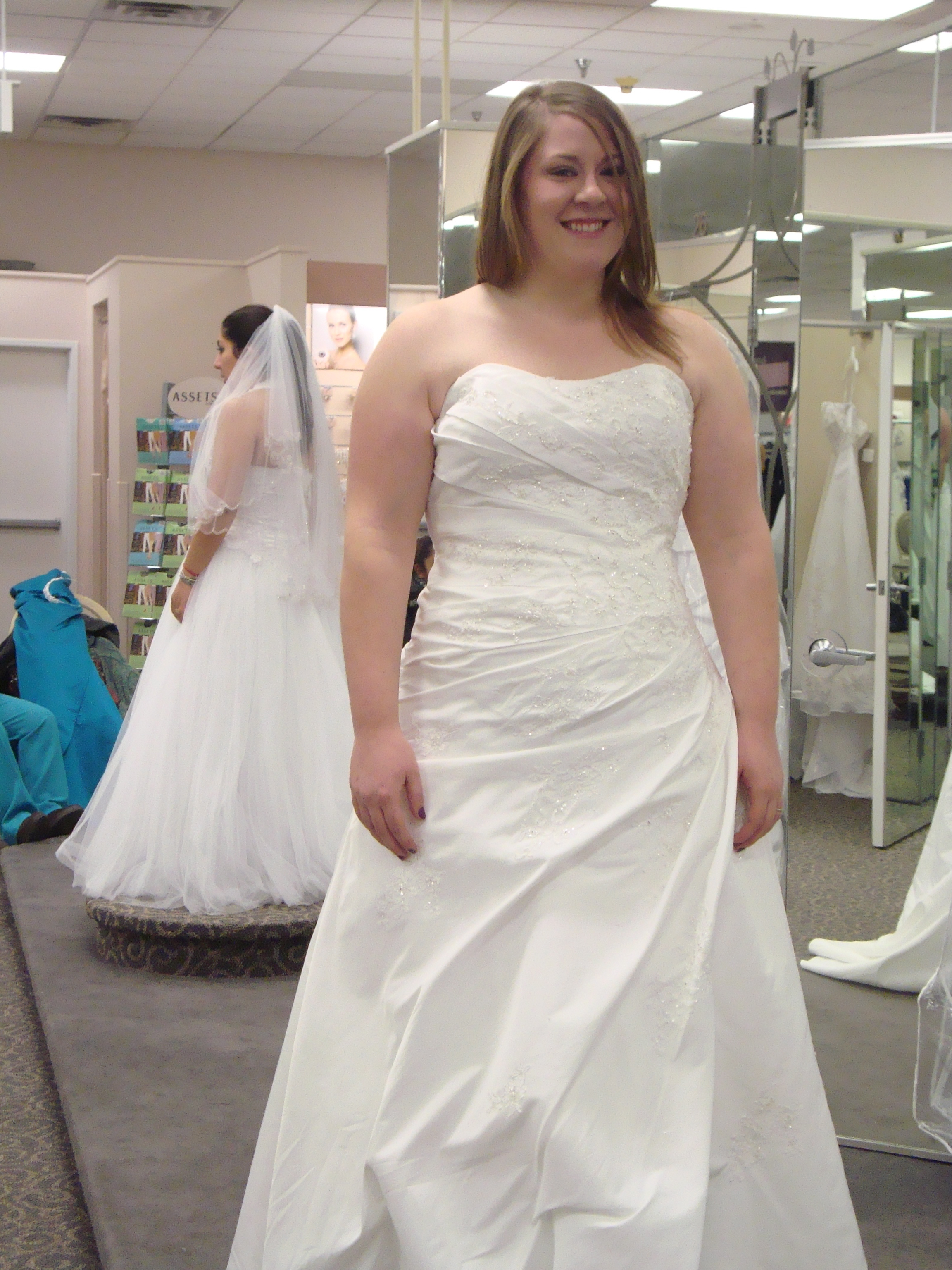 Fat brides in strapless dresses